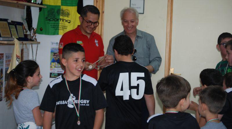 """Giocando a rugby…aspettando la maglia rosa: un successo.Nissa Rugby: """"Bello vedere tanti bambini e molte famiglie…in campo"""""""