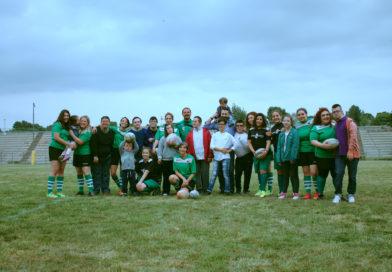 Nissa Rugby e AIPD insieme per calendario 2019.Cerbere ed under 14 femminile in meta con i ragazzi dell'associazione