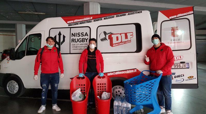 """DLF Nissa Rugby, consegna gratuita della spesa: solidarietà e sorrisi. Andrea Lo Celso: """"Esperienza formativa che sta arricchendo il nostro animo"""""""