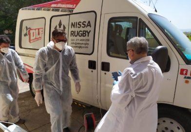 DLF Nissa Rugby, prosegue il volontariato. Grazie alla professionalità della Elintec: sanificato gratuitamente il minibus