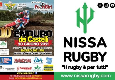 """La club house della DLF Nissa Rugby per il decimo Enduro dei Castelli. Cortese, consigliere regionale FMI: """"Proficua sinergia sportiva"""""""