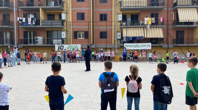 """DLF Nissa Rugby, grande successo per l'Open Day: quasi cento bambini al polivalente """"L. Gattuso"""" di San Luca"""
